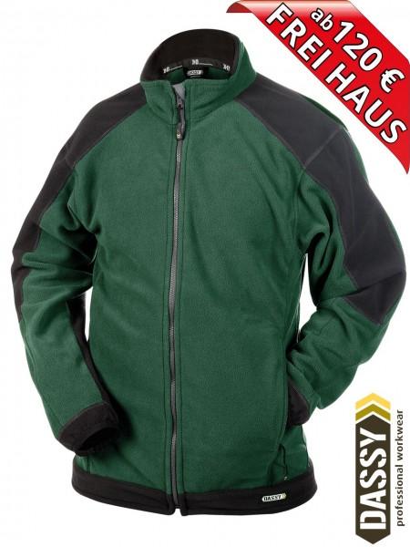Fleecejacke zweifarbig Jacke KAZAN DASSY Fleece 300217 grün/schwarz