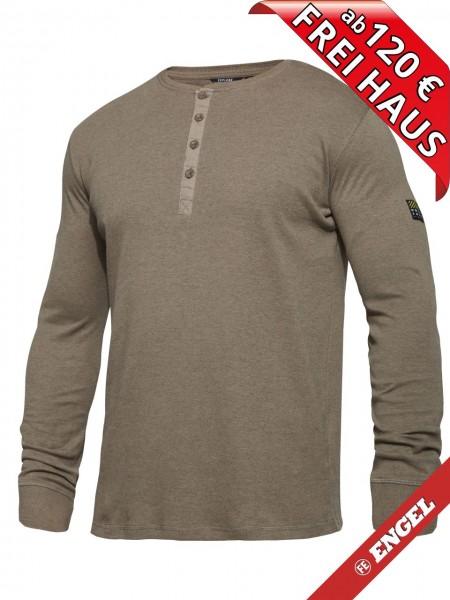T-Shirt langarm Knopfleiste FEINRIPP Shirt EXPLORE WORKZONE 0930-565