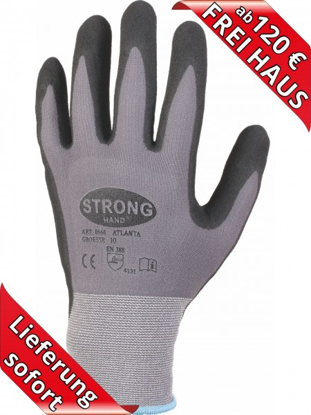 Nitril Arbeitshandschuh ATLANTA 0660 Montage Handschuh Stronghand