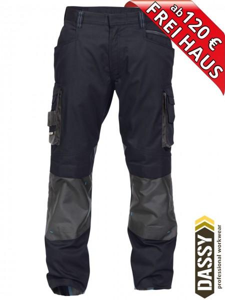 Arbeitshose Bundhose DASSY® Nova Kniepolster D-FX 200846 nachtblau