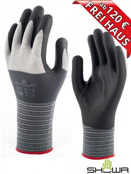 SHOWA 381 Nitril Arbeitshandschuh Montage Handschuh leicht atmungsaktiv
