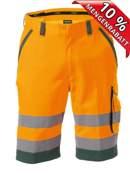 Warnschutz Short kurze Arbeitshose LUCCA DASSY 250059 orange/grün