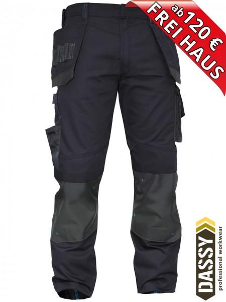 Arbeitshose Multitaschen Bundhose DASSY® MAGNETIC D-FX 200908 nachtblau