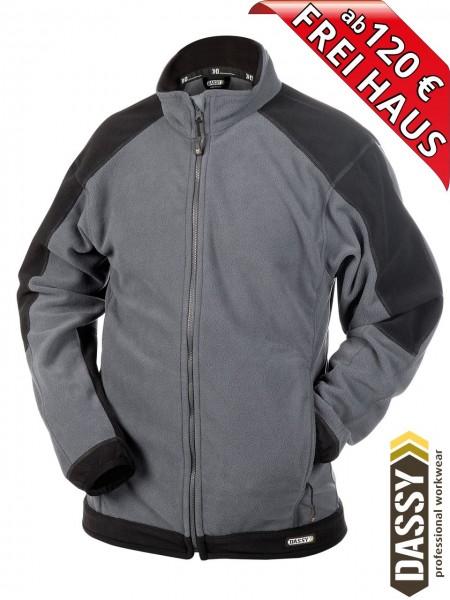 Fleecejacke zweifarbig Jacke KAZAN DASSY Fleece 300217 grau/schwarz