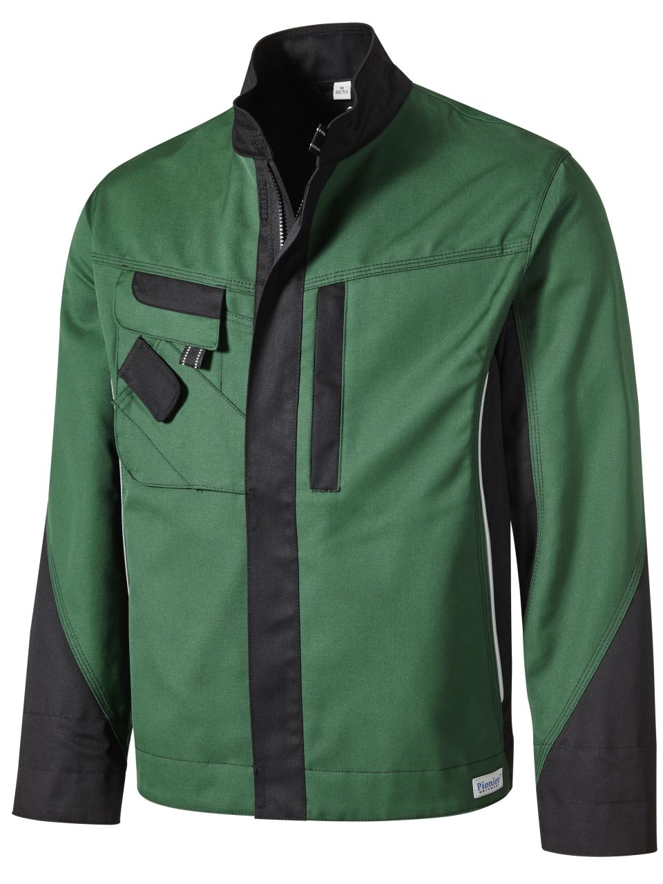 Arbeitsjacke Bundjacke Jacke schwarz//grün Gr L