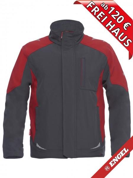 Softshell Jacke zweifarbig GALAXY 8810-229 FE ENGEL anthrazitgrau rot