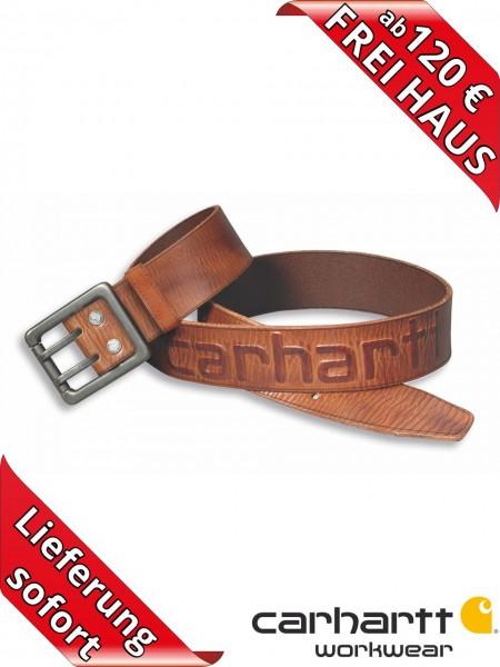 Carhartt Leder Gürtel Vollleder Ledergürtel Logo Belt 2217 braun