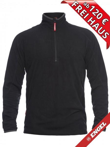 Zip Mikro Fleecepullover Fleece Sweater FE ENGEL 8018-343 schwarz