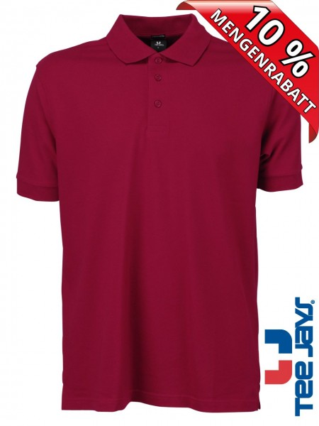 Stretch Herren Polo Shirt Deluxe 1405 Tee Jays dunkel rot