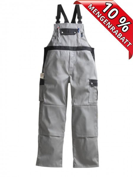 Latzhose Top Comfort Stretch Pionier 2456 grau/schwarz