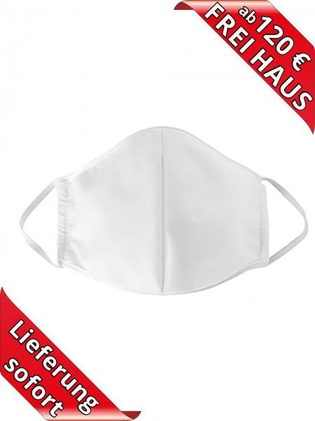 Mund Nasen Maske Seidensticker Business Mundschutz weiss 3 lagig Gummi