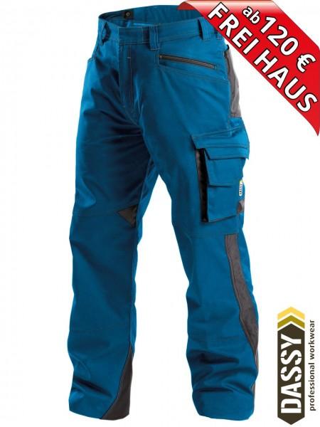 Arbeitshose Service Bundhose DASSY® Spectrum D-FX 200892 azurblau
