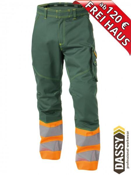 Warnschutz Bundhose Arbeitshose PHOENIX DASSY 200810 orange/grün