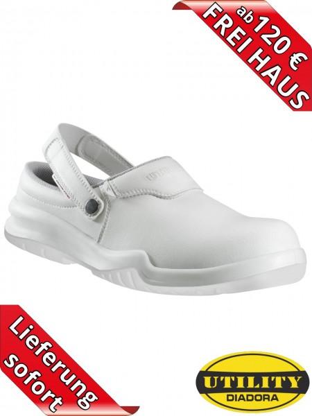 GEOX weißer Sicherheits Clog Arbeitsschuh FREE MOON Diadora 160269