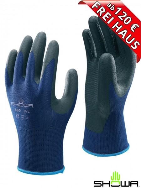 SHOWA 380 NITRILE FOAM GRIP Arbeitshandschuh Nitril Montage Handschuhe