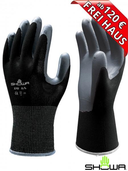 SHOWA 370 Arbeitshandschuh Assembly Grip Black Handschuh schwarz 118370