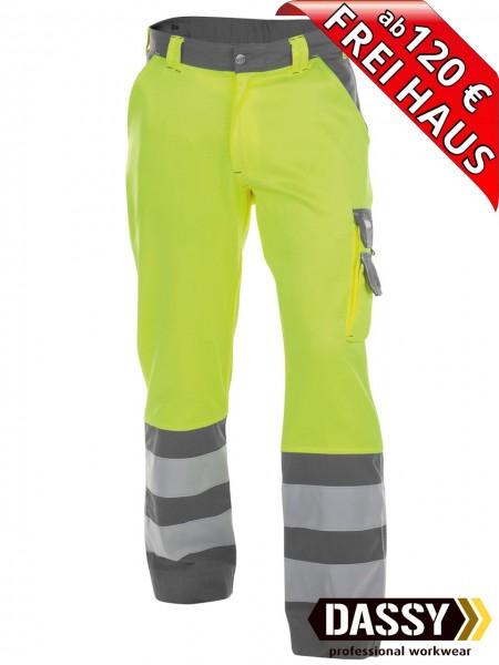 Warnschutz Bundhose Arbeitshose LANCASTER DASSY 200612 gelb/grau
