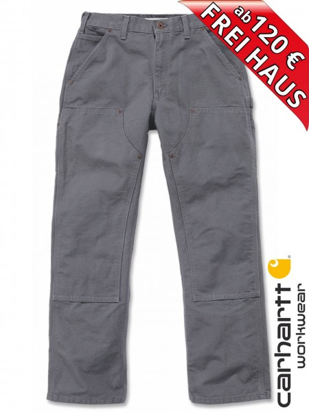 Carhartt EB136 grau Arbeitshose Washed Duck Double-Front Work Dungaree