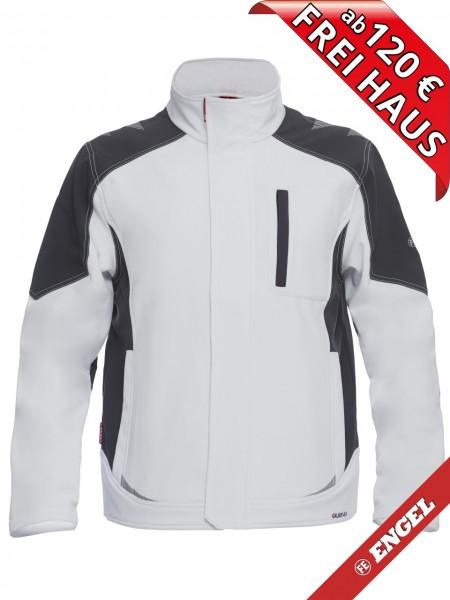 Softshell Jacke zweifarbig GALAXY 8810-229 FE ENGEL weiss grau