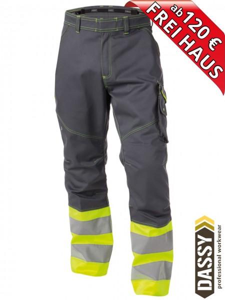 Warnschutz Bundhose Arbeitshose PHOENIX DASSY 200810 gelb/grau