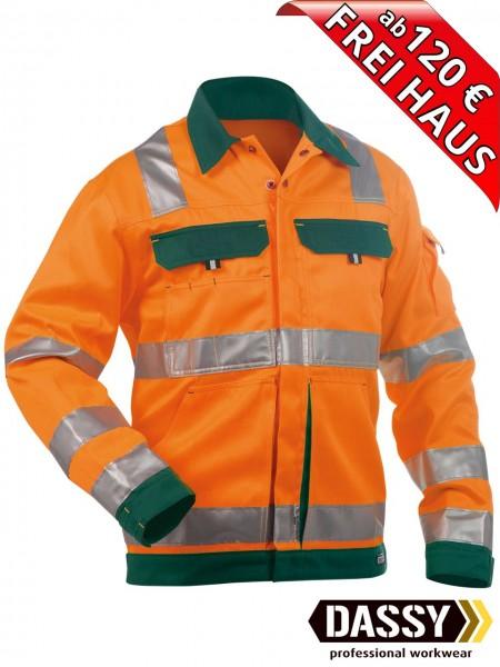 Warnschutz Arbeitsjacke Jacke DUSSELDORF DASSY 300184 orange/grün