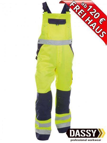 Warnschutz Latzhose Kniepolster TOULOUSE DASSY 400127 gelb/blau