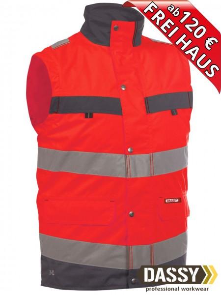 Warnschutz Weste Bodywarmer BILBAO DASSY 350100 rot/grau Innenweste