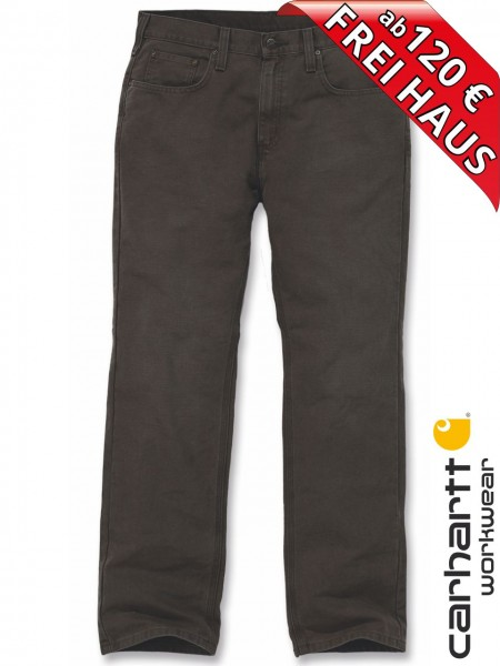 Carhartt Weathered Duck 5-Pocket Pant Arbeitshose 100096 Coffee Braun