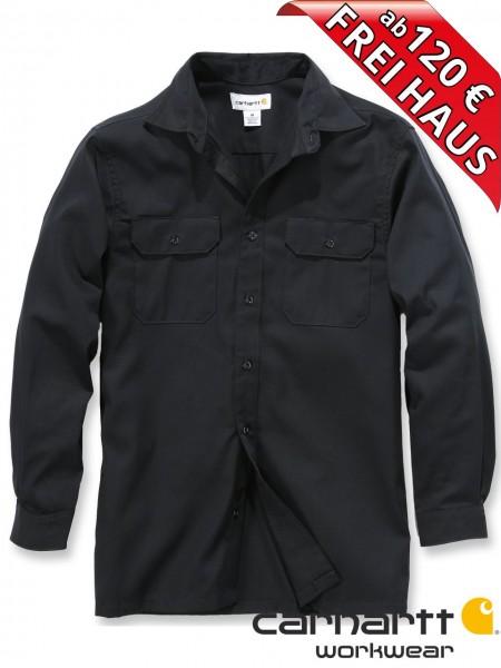 Carhartt Hemd langarm Twill Long Sleeve Work Shirt S224 schwarz