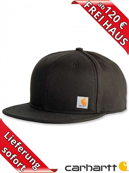 Carhartt Ashland Cap Mütze Snapcap Canvas Baumwolle 101604 schwarz