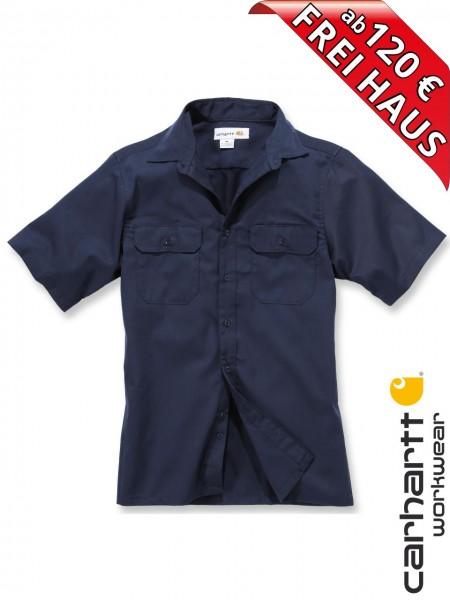 Carhartt Hemd kurzarm Twill Short Sleeve Work Shirt S223 Dunkel Blau