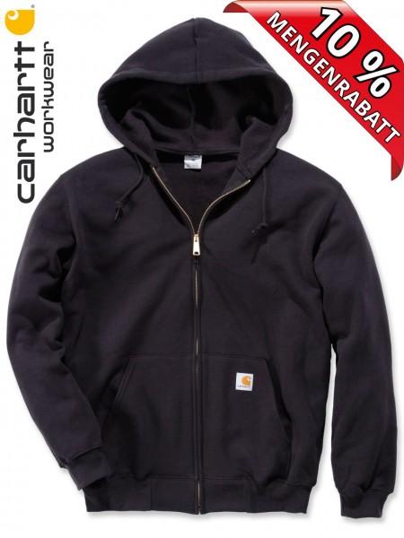 Carhartt Kapuzenjacke Zip Hooded Sweatshirt Jacke K122 Kapuze schwarz