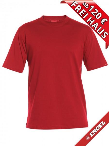 T-Shirt Workwear Mischgewebe Rundhals FE ENGEL 9054-559 rot