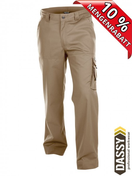 Bundhose Arbeitshose Cargo Hose LIVERPOOL DASSY 200427 khaki beige
