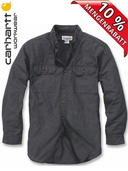 Carhartt Hemd langarm Fort Solid Long Sleeve Shirt S202 schwarz