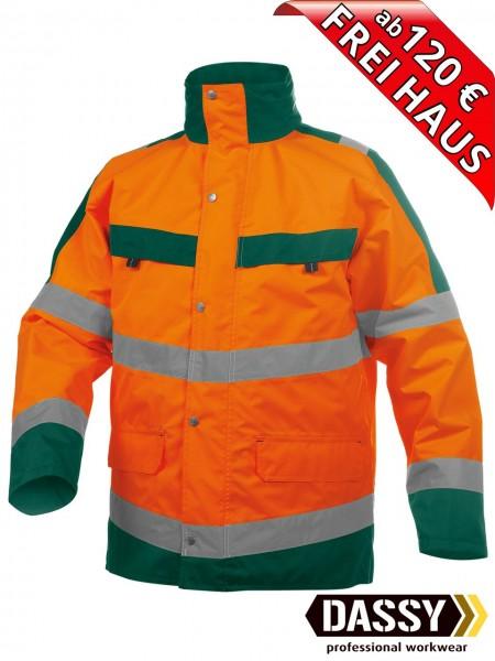 Warnschutz Regenjacke Parka Jacke ATLANTIS DASSY 300346 orange/grün