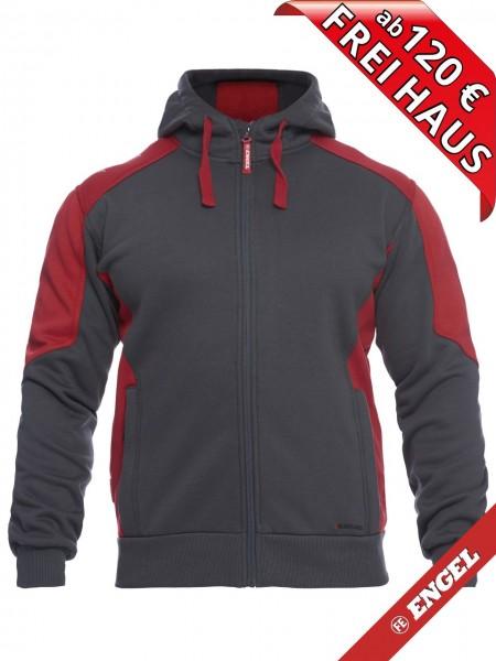 Sweat Jacke Cardigan Kapuzenjacke GALAXY 8820-233 FE ENGEL grau rot