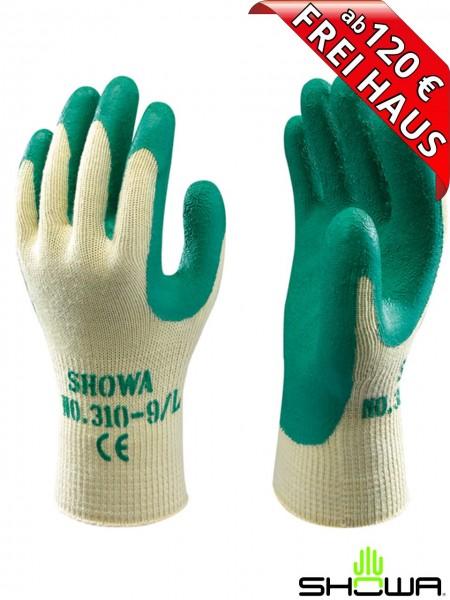 SHOWA 310 Top Grip Arbeitshandschuh grün Latex 178310 Handschuh