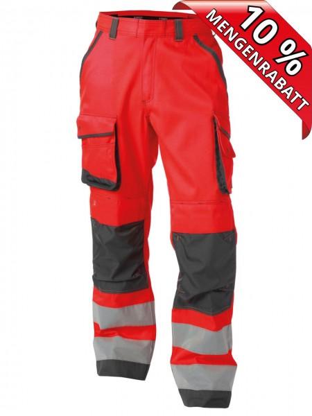 Warnschutz Bundhose Kniepolster CHICAGO DASSY 200807 rot/grau