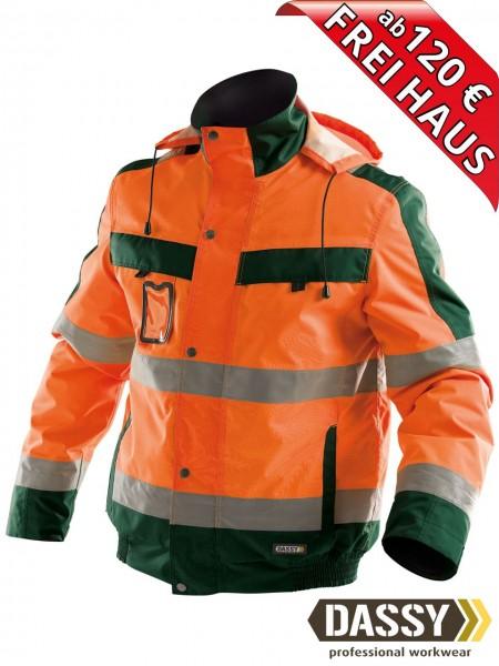 Warnschutz Winterjacke wasserdicht Jacke DASSY® Lima 500120 orange/grün