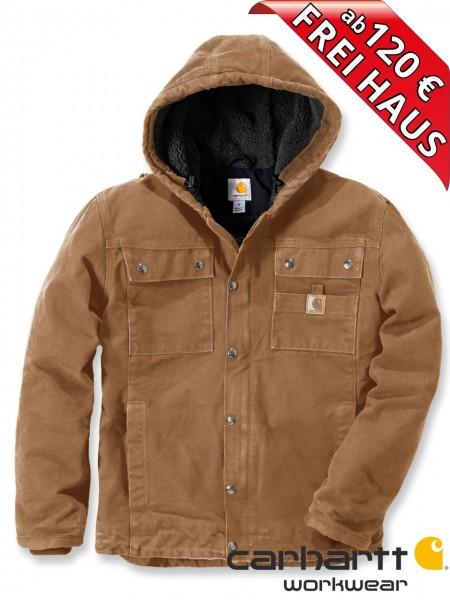 Carhartt Sandstone Barlett Jacke Winterjacke 102285 Sherpa-Futter braun