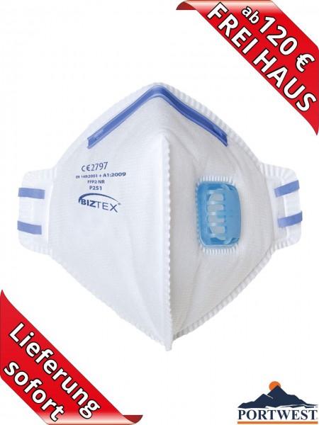 Atemschutzmaske Feinstaubmaske FFP2 Falt Maske BIZTEX Portwest P251