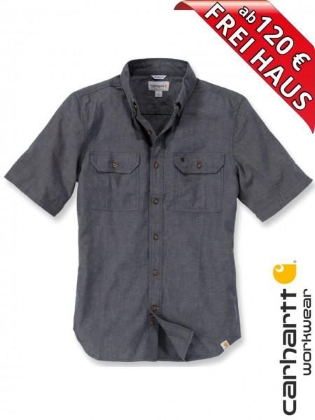 Carhartt Hemd kurzarm Fort Solid Short Sleeve Shirt S200 schwarz