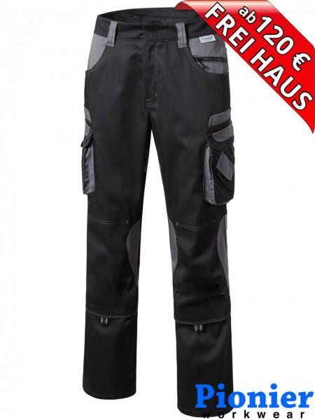 Damen Bundhose Arbeitshose schwarz / grau TOOLS Pionier Workwear 5740
