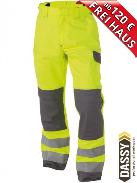 Multinorm Warnschutz Bundhose Kniepolster MANCHESTER DASSY 200819 gelb/grau