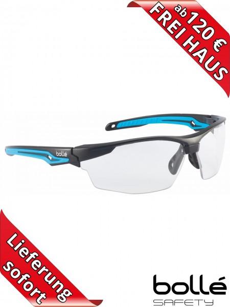 Bollé Safety Schutzbrille TRYON TRYOPSI Klar PLATINUM Beschichtung blau