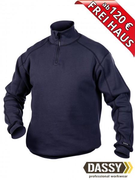 DASSY® Felix Zip Sweatshirt hoher Kragen Reißverschluss 300270 dunkelblau