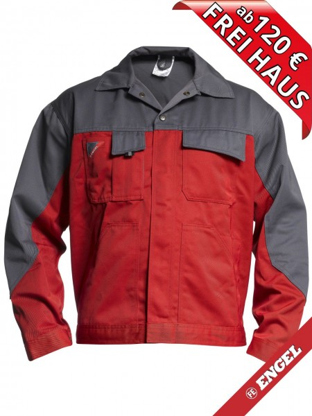 Bundjacke Arbeitsjacke Enterprise zweifarbig FE ENGEL 1600-780 rot