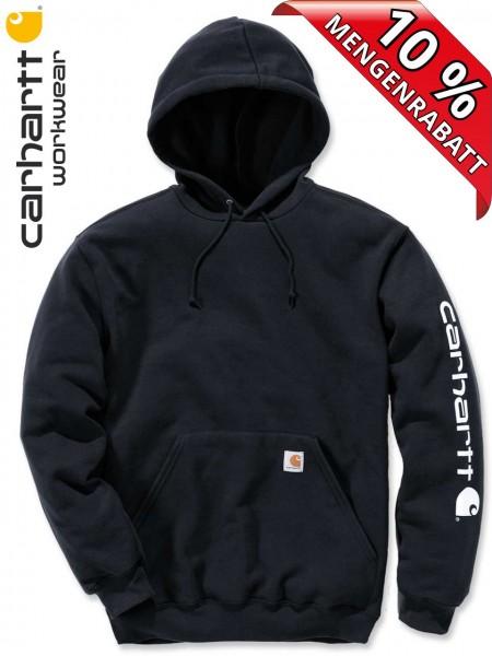 Carhartt Hooded Sweatshirt Kapuzenpulli Hoodie Shirt Druck K288 schwarz