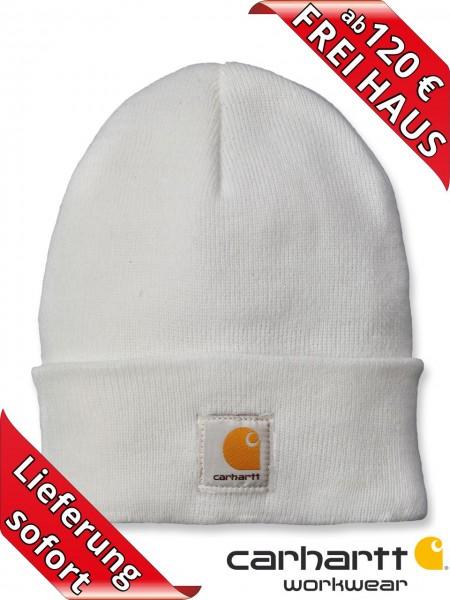 Carhartt Strickmütze Watch Hat Beanie Wintermütze Mütze A18 weiß